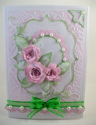 Delicate Roses Wedding Card