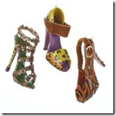 Kurt Adler Jungle Shoe Ornaments