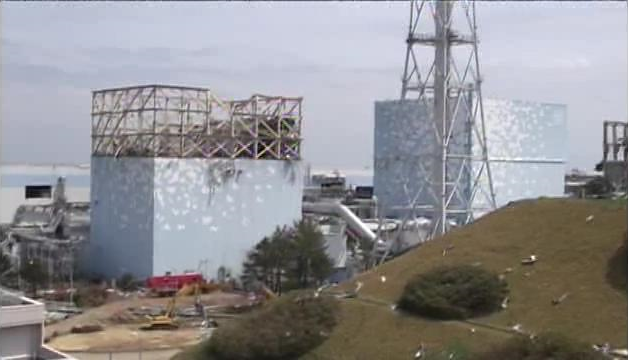 Reactor buildings of Fukushima Daiichi Unit 1 and 2, 6 May 2011. TEPCO