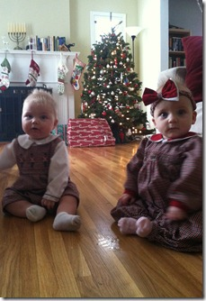 Twin Christmas outfits