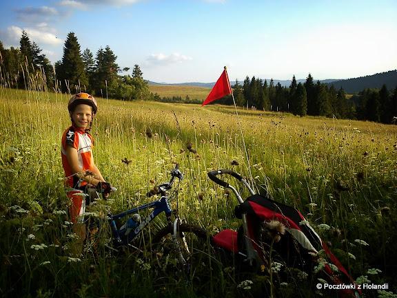 Na zjeździe z Czertaża do Mochnaczki (szlak zielony)