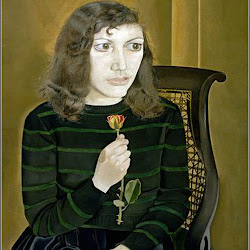 Freud, Girl with Roses 1947f
