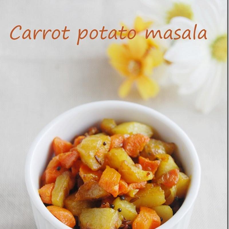 Carrot potato masala