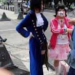 cosplay on Jingu bridge in Harajuku, Tokyo, Japan