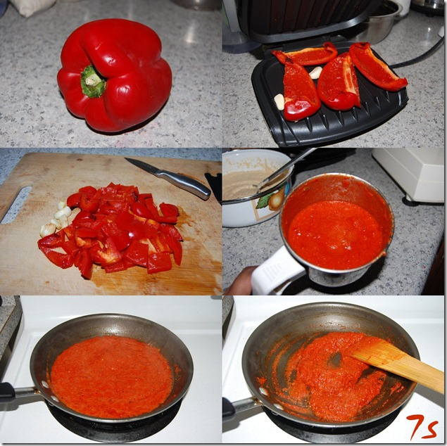 Roasted red pepper chutney process