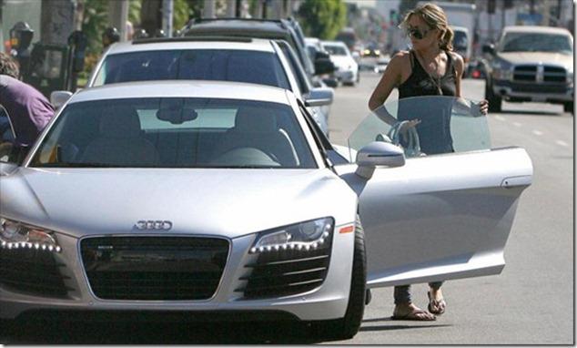 Lauren Conrad and her Audi R8