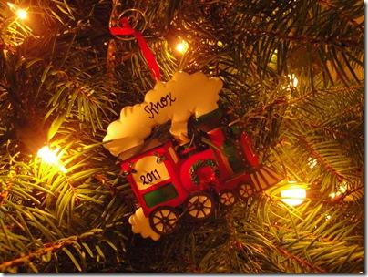 23.  Knox's 2011 christmas ornament