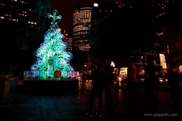 Christmas Trees: 23-foot-tall made from 100 old Bicycles in Sydney