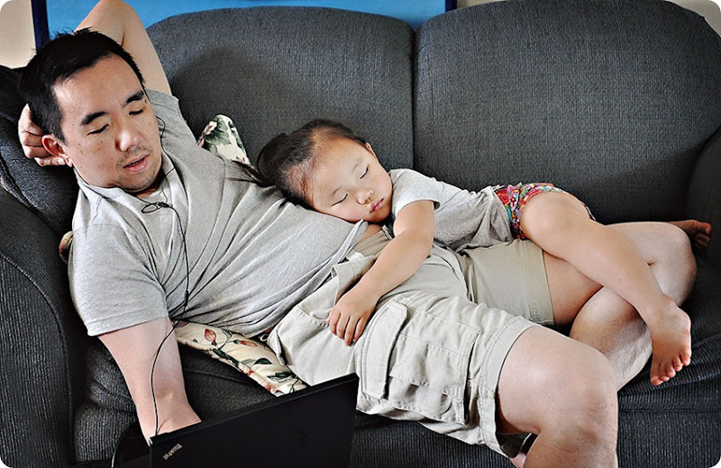 Sleeping-on-Daddy