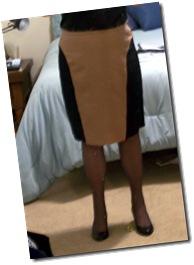 Butterick color blocked skirt