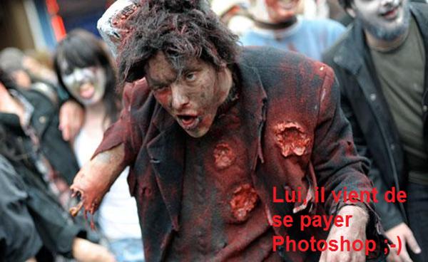 Zombie photoshop