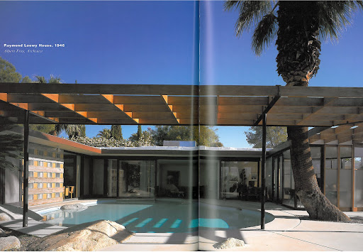 The Raymond Loewy House was designed by the famous Palm Springs-based architect, Albert Frey. Though I love the irreverence and imagination behind the pool, which extends into the living areas, I would be afraid of my guests taking an unwanted dip during cocktail parties!