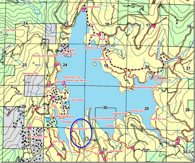 Camp Chawanakee Cove on a map