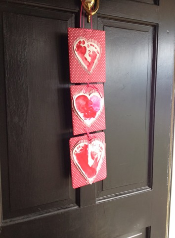 Valentines Day Hand Print Kids Craft