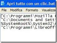 Avviare più programmi insieme con un clic di mouse