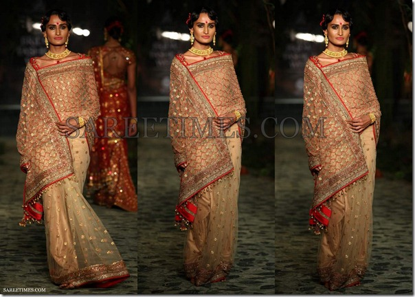 Tarun_Tahiliani_Cream_Bridal_Saree