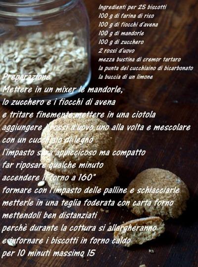biscotti con farina di riso,fiocchi di avena e mandorle 2