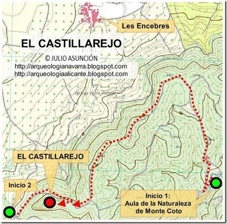 Mapa El Castillarejo - Pinoso