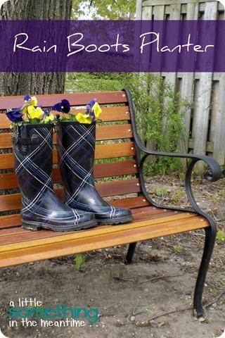 Rain Boots Planter Banner