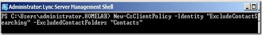 Lync - contact command policy