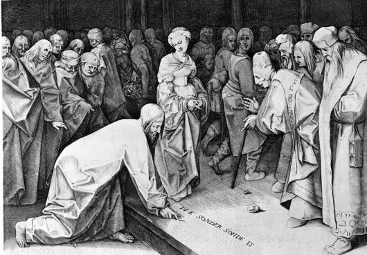 Pieter Brueghel the Elder Christus und die Ehebrecherin