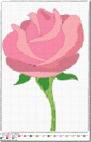 Ponto cruz graficos de rosas  44