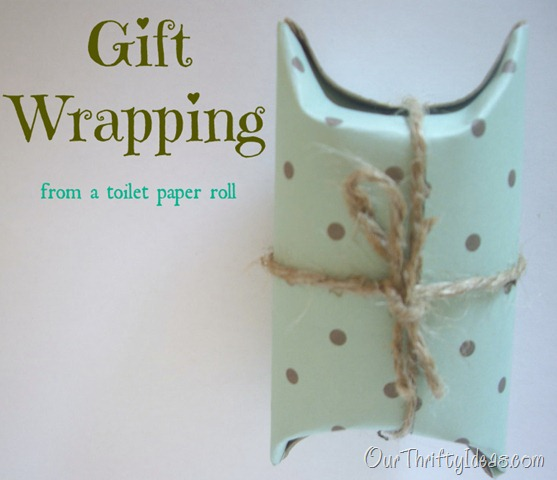 Gift Wrapping from a toilet paper roll