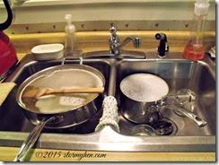 cooking pans soaking