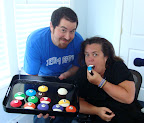 Alas, Rosie praises Spot and his billiard cupcakes and wishes him the best of luck in the Martha Stewart Living Radio Cupcake Contest. She even gave him an iPad as a reward!