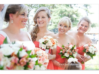 Peach wedding flowers - Ideas in Bloom, Beth Wallace Photography