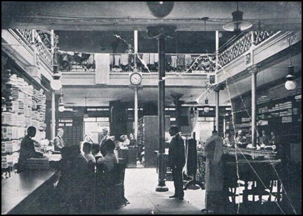 Interior de El Siglo. Calle de San Fernando. 1911