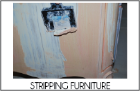 stripping furniture