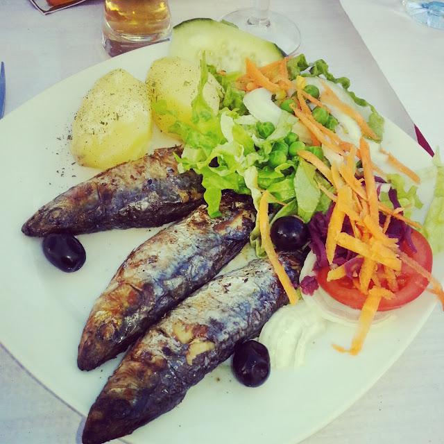 Sardine lunch Lisbon