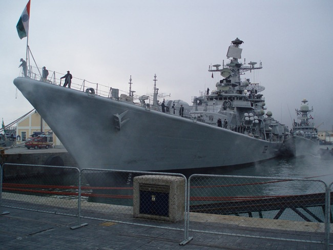 Delhi Class Destroyer INS Mumbai [D62] of the Indian Navy