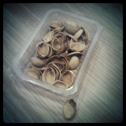 #55 - Empty shells from a punnet of Graze pistachios