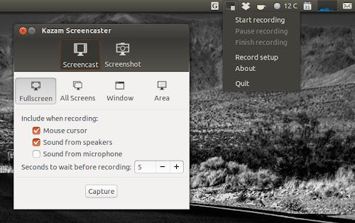 Kazam Screencaster 1.3.2 su Ubuntu
