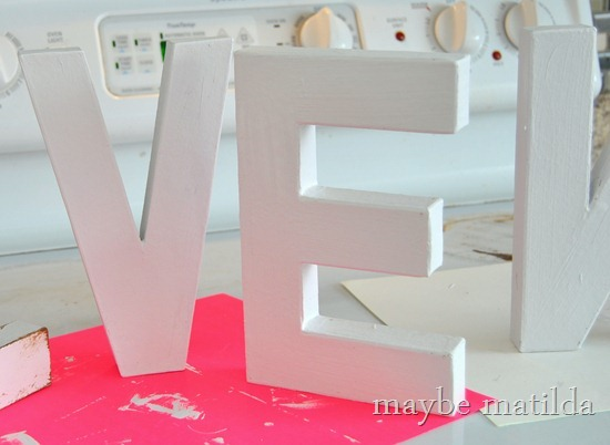 DIY 'Love' Letters for Valentine's Day
