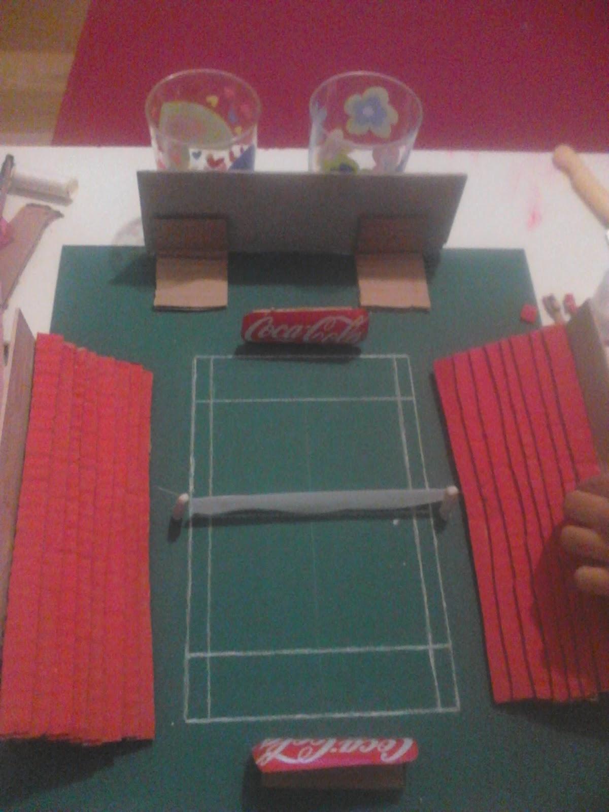 Maqueta pista de tenis arte por entradas for Como hacer gradas