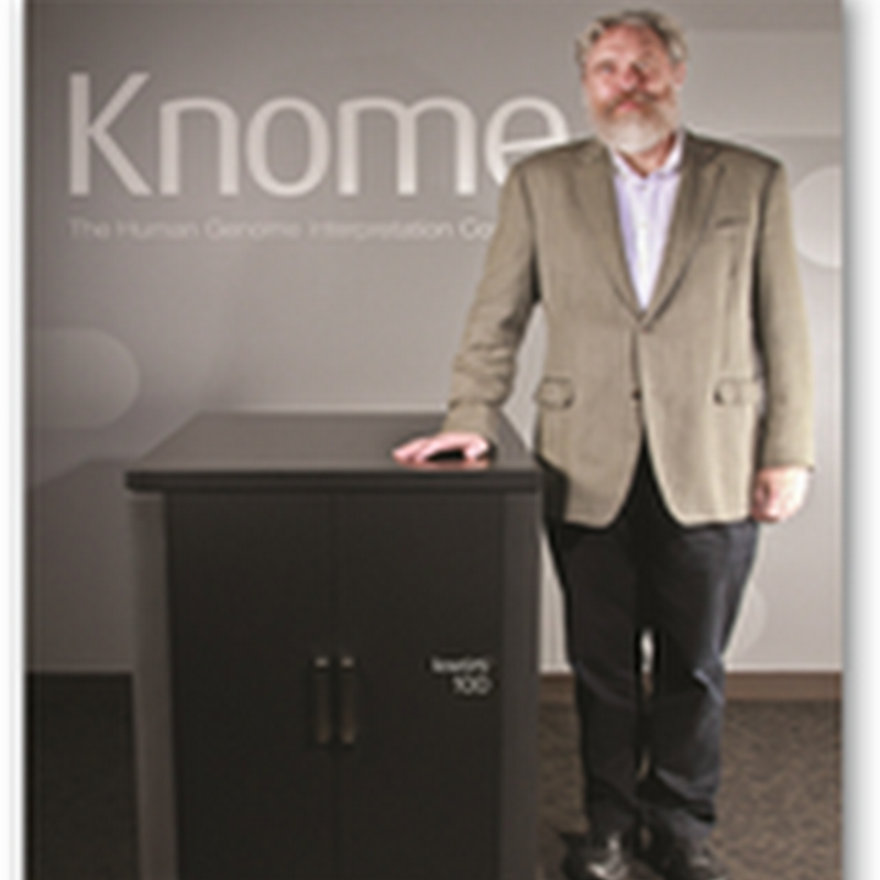 Knome Introduces First Plug and Play Human Genome Supercomputer Interpretation System–knoSYS100, It Runs Behind Client Firewalls for Privacy and Security–No Cloud Needed