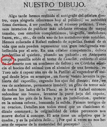 1882-09-11 La Lidia Lámina explicación
