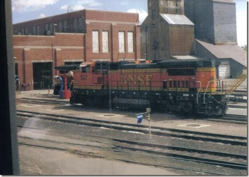 Placespages trains in havre mt bnsf b40 8w 507 in havre montana in may 2003 sciox Choice Image