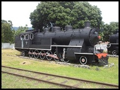 Indonesia, Ambarawa Railway Museum, Loco, Krupp Germany, 11 January 2013 (2)