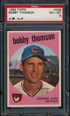 1959 Topps 429 Bobby Thomson
