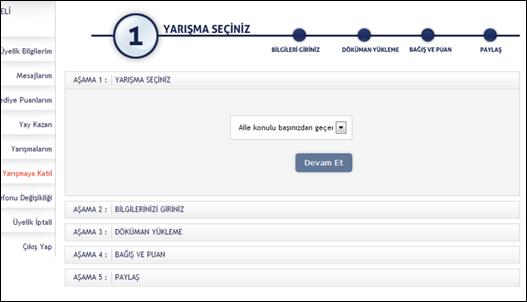 En Türkiye Yarışmaya Katılım Sihirbazı