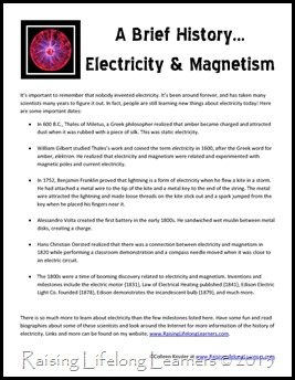 Brief History of Electricity