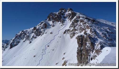 Arista Este al Peyreget 2487m y Corredor Este con esquis (Portalet) (Fede) 0037