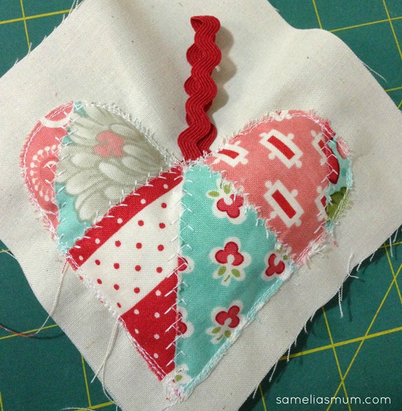 Scrappy Heart Pin Cushion 3
