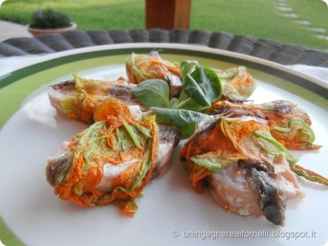 involtini salmone fiori zucca alici