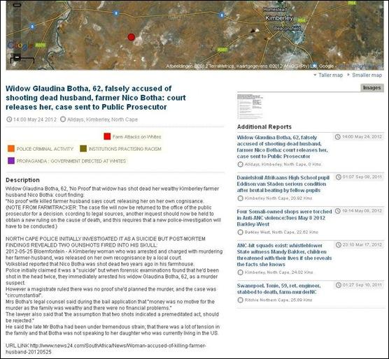 64c740fb576 Botha Nico shot dead FALSE ARREST widow Glaudina COURT RULES NO PROOF  MAY252012 KIMBERLEY
