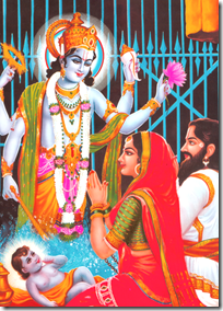 [Krishna appearing in jail cell]
